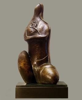 Krishnakali by Sanjib Narayan Dutta, Decorative, Decorative Sculpture | 3D, Bronze, Brown color