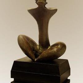 Banshidhari by Sanjib Narayan Dutta, Decorative, Decorative Sculpture | 3D, Bronze, Beige color