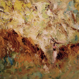 Its All About Surviving by Sachin Upadhye, Impressionism, Impressionism Painting, Oil on Canvas, Brown color