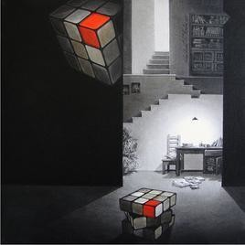 Life Corner 12-2011 by Shrikant Kolhe, Realism, Realism Painting, Acrylic on Canvas, Gray color