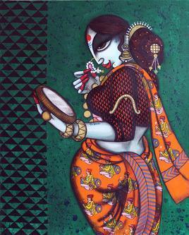 Rhythmic-6 by Varsha Kharatmal, , , Green color