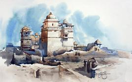 Ruins of Chittodgrah by Vikrant Shitole, , , Gray color