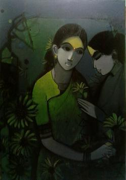 Two Women by Sachin Sagare, , , Black color