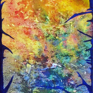 Amused Spirit by Hufreesh Dumasia Chopra, Abstract, Abstract Painting, Acrylic on Canvas, Blue color