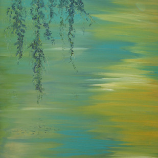 Branches and Water II Digital Print by Animesh Roy,Impressionism, Impressionism