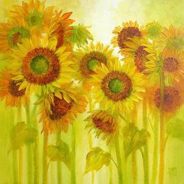 Sunflowers by Swati Kale, , , Yellow color