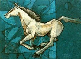 Charging Ahead in my Dreams-6 by Dinkar Jadhav, , , Green color