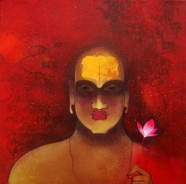 Untitled 3 by Amol Pawar, , , Red color