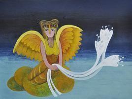 Imprints Of Subconscious 075 by Shashikant Rewade, Decorative, Decorative Painting, Acrylic on Canvas, Blue color