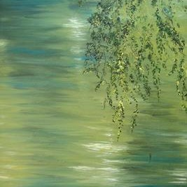 Branches and Water III Digital Print by Animesh Roy,Impressionism, Impressionism