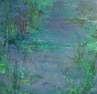 Waterscape 2 Digital Print by Animesh Roy,Impressionism, Impressionism