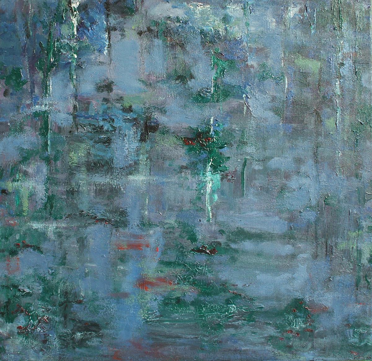 Waterscape 3 Digital Print by Animesh Roy,Impressionism, Impressionism