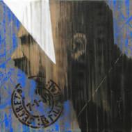 Stamp 72 by Devidas Dharmadhikari, Pop Art, Pop Art Painting, Acrylic on Canvas, Gray color