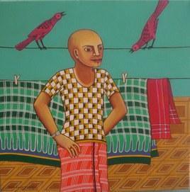 Untitled by Thota Laxminarayana, , , Green color