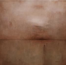 Untitled 3 by Dibakar Karmakar, Abstract, Abstract Painting, Acrylic on Canvas, Brown color