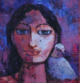 Mindscape1 by Ram Thorat, , , Blue color