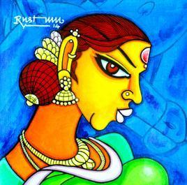 Chandrakala by M D Rustum, , , Blue color