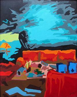 Sanjh-1 by Sheetal Singh, , , Cyan color