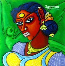 Surekha 1 by M D Rustum, , , Green color