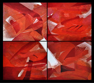 Red Pound Digital Print by Anand Prakash,Abstract, Abstract