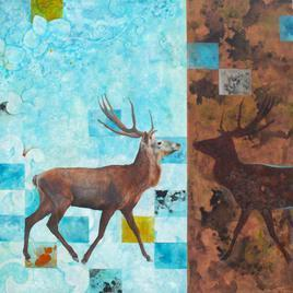 Deer_1 by Abhisek Dey, , , Cyan color
