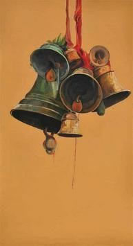 Faith2 by Prasoon Poddar, Realism, Realism Painting, Acrylic on Canvas, Brown color