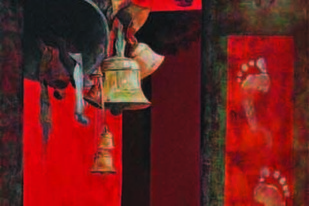 Faith3 by Prasoon Poddar, Decorative, Decorative Painting, Acrylic on Canvas, Brown color