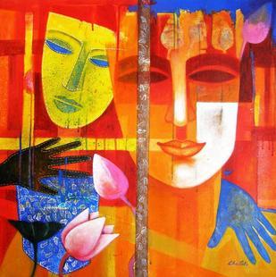 Colour of Love 12 by Chaitali Mukherjee, , , Orange color
