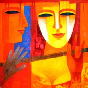 Colour of Love 6 by Chaitali Mukherjee, , , Orange color