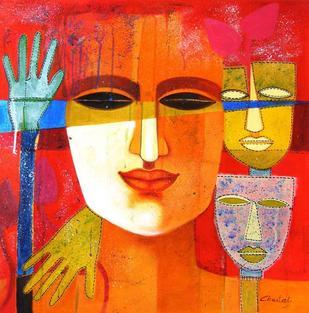 Colour of Love 8 by Chaitali Mukherjee, , , Orange color
