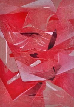 NaturaI by Anand Prakash, Abstract, Abstract Painting, Acrylic on Canvas, Pink color