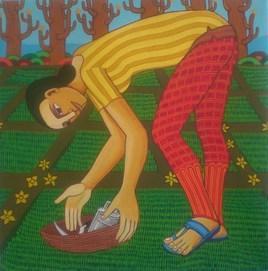 Untitled45_1 by Thota Laxminarayana, , , Green color