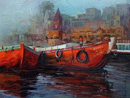 Varanasi011_1 by Iruvan Karunakaran, , , Brown color