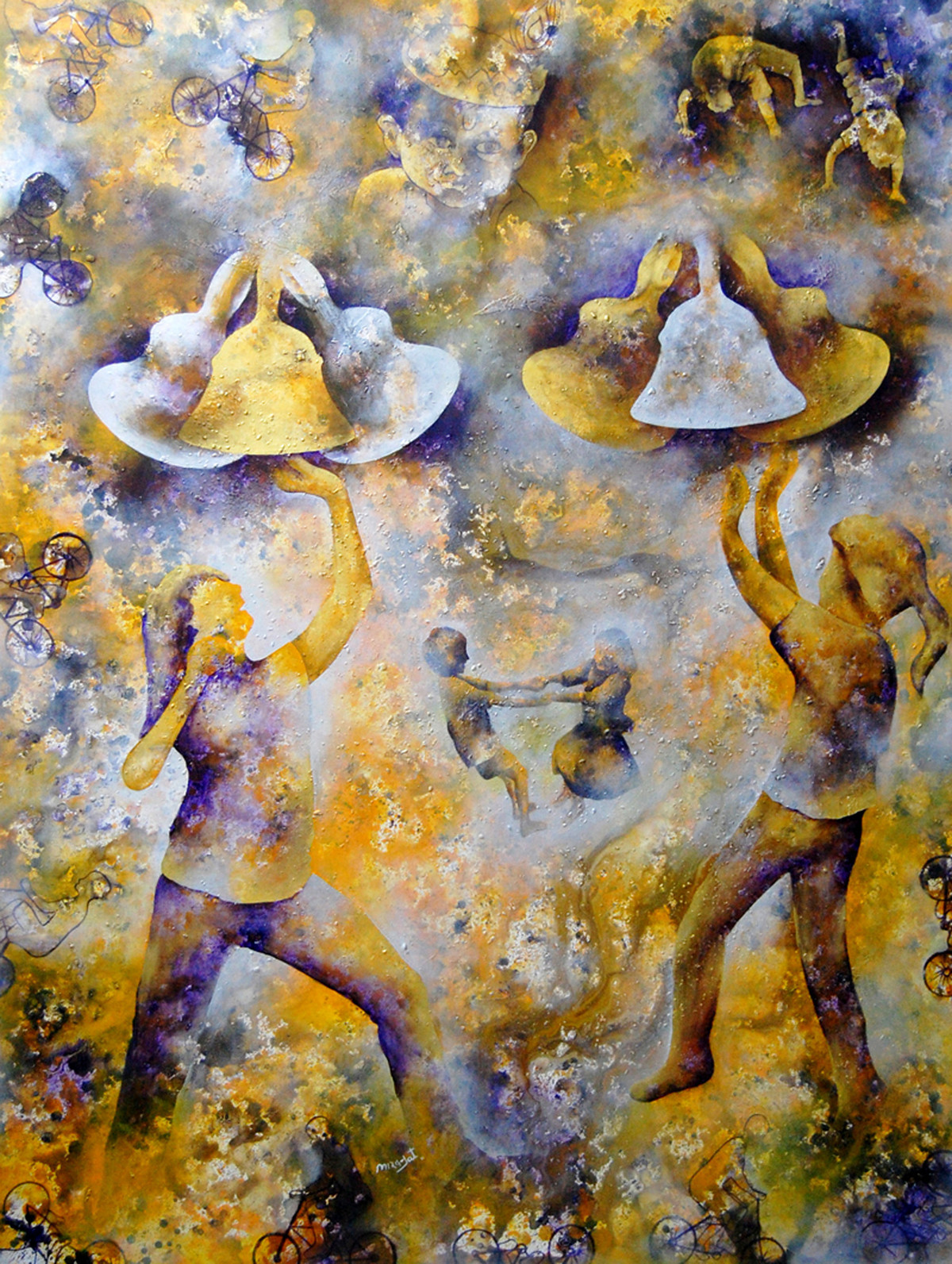 TanTan by Lakhan Singh Jat, Expressionism, Expressionism Painting, Acrylic on Canvas, Brown color