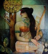 Chitrangada1_1 by Arun Kumar Samadder, , , Brown color