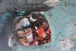 Shiv Shakti 2 by Ravinder Sharma, Conceptual, Conceptual Painting, Mixed Media on Paper, Gray color