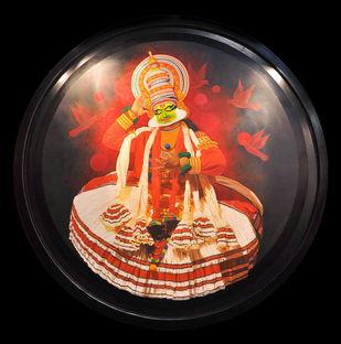 Vishnu mudra by Prashant Yampure, Realism, Realism Painting, Acrylic on Canvas, Brown color