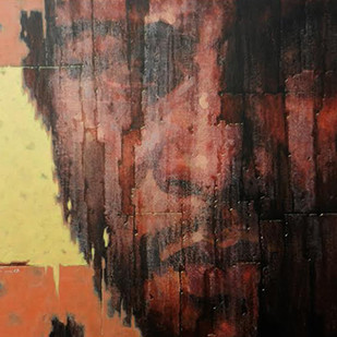 Alive 1 by Susanta Das, Expressionism Painting, Acrylic on Canvas, Brown color