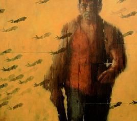 Duty_1 by Susanta Das, Painting, Acrylic on Canvas, Brown color