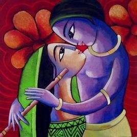 RomanticCouple12 - Painting by Sekhar Roy