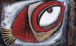 FishVI by Ratna Bose, , , Brown color
