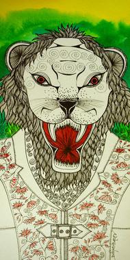 Narsinh - Painting by Pragati Sharma Mohanty
