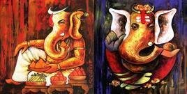 Vignhnarta by Anand Dharmadhikari, , , Brown color