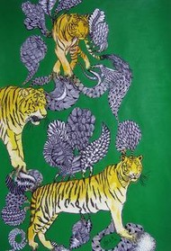 TimeTravel6 by Umed Rawat, Conceptual, Conceptual Painting, Acrylic on Paper, Green color