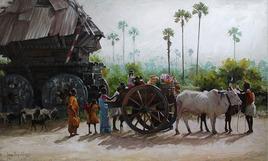 BullockCart1_1 by Iruvan Karunakaran, , , Gray color
