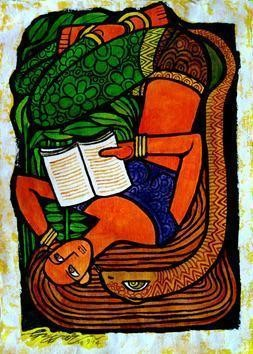 Reading2_1 by Gujjarappa B G, , , Brown color