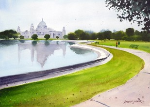 At the Victoria Memorial by Ramesh Jhawar, , , Green color