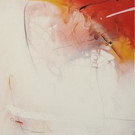 Untitled 7 by Archana Yadav, Abstract, Abstract Painting, Mixed Media on Canvas, Beige color