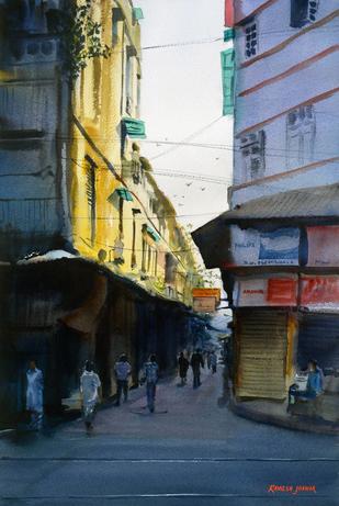 First Light - Painting by Ramesh Jhawar