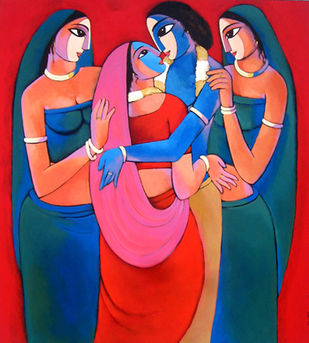 Rasa - Painting by Sekhar Roy